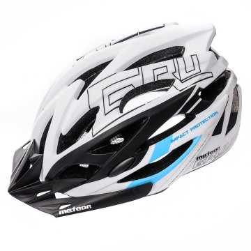 KASK ROWEROWY METEOR GRUVER white/black/blue
