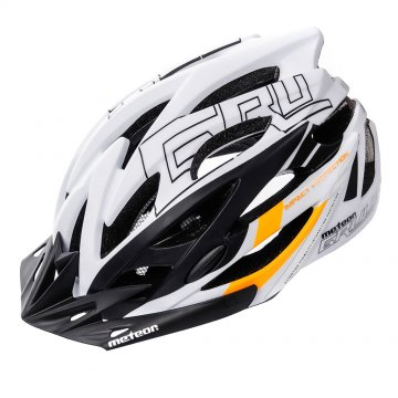 KASK ROWEROWY METEOR GRUVER white/black/orange