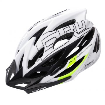 KASK ROWEROWY METEOR GRUVER IN-MOLD white/black/green
