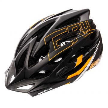 KASK ROWEROWY METEOR GRUVER IN-MOLD black/orange