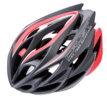 KASK ROWEROWY METEOR CRUST IN-MOLD grey/red