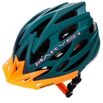 KASK ROWEROWY METEOR MARVEN green/orange