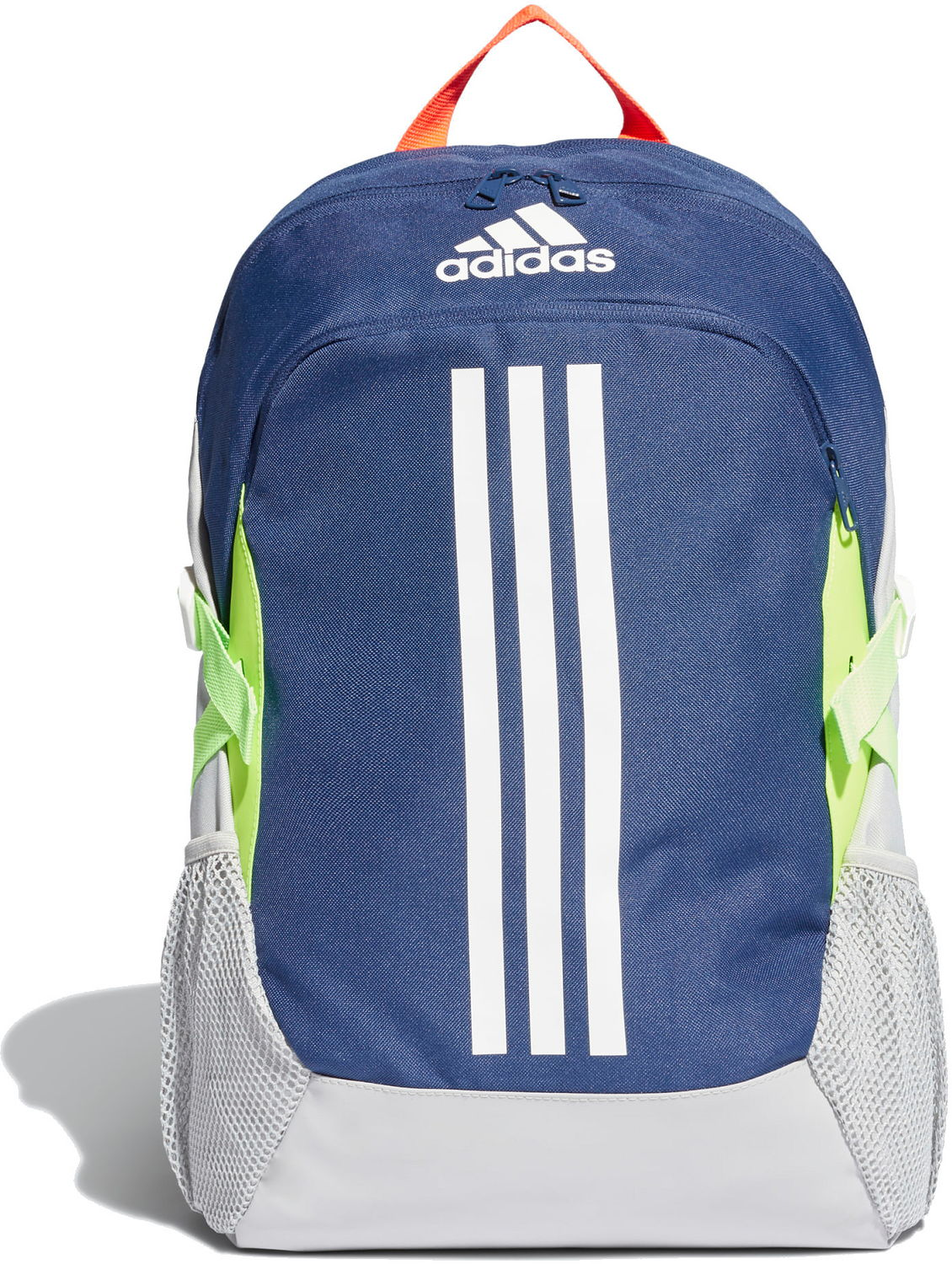 BACKPACK ADIDAS BP POWER V FJ925, blue-grey-lime, white logo